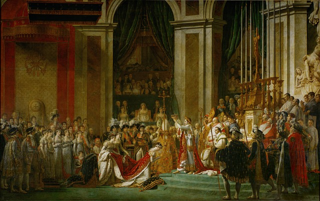 Small Dog Syndrome and Napoleon Complex: The Coronation of Napoleon Bonaparte, oil painting